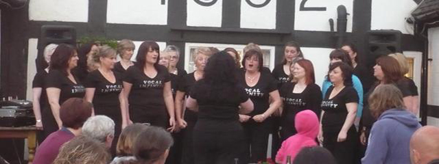 Singing at a Jubilee event